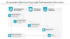 Ecosystem Service Cascade Framework With Icons Ppt PowerPoint Presentation Gallery Example Topics PDF