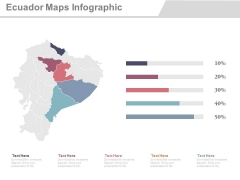Ecuador Map With States Economic Analysis Powerpoint Slides