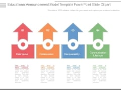 Educational Announcement Model Template Powerpoint Slide Clipart