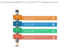 Educational Qualification For Job Search Ppt Samples Download