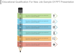 Educational Qualification For New Job Sample Of Ppt Presentation