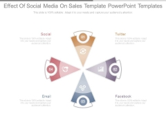 Effect Of Social Media On Sales Template Powerpoint Templates