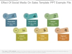 Effect Of Social Media On Sales Template Ppt Example File