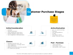 Effective Advertising And Sales Management Customer Purchase Stages Ppt PowerPoint Presentation File Show PDF