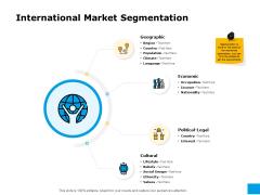 Effective Advertising And Sales Management International Market Segmentation Ppt Model Guide PDF