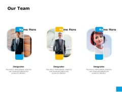 Effective Advertising And Sales Management Our Team Ppt Icon Examples PDF
