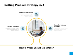 Effective Advertising And Sales Management Setting Product Strategy External Ppt Professional Clipart PDF