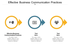 Effective Business Communication Practices Ppt PowerPoint Presentation Pictures Background Cpb