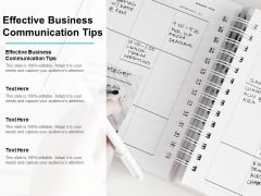 Effective Business Communication Tips Ppt PowerPoint Presentation Inspiration Brochure Cpb