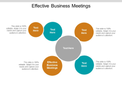 Effective Business Meetings Ppt PowerPoint Presentation Summary Graphics Pictures Cpb