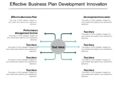 Effective Business Plan Development Innovation Performance Management Outline Ppt PowerPoint Presentation Outline Graphics Design