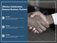 Effective Collaboration Between Business Partners Ppt PowerPoint Presentation Gallery Inspiration PDF