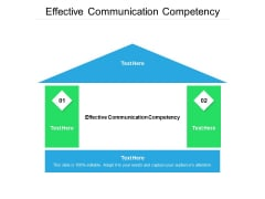 Effective Communication Competency Ppt PowerPoint Presentation Outline Themes Cpb