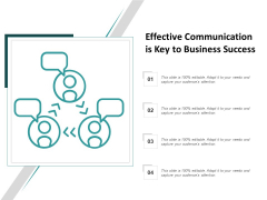Effective Communication Is Key To Business Success Ppt PowerPoint Presentation Styles Visual Aids