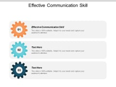 Effective Communication Skill Ppt PowerPoint Presentation Slides Introduction Cpb