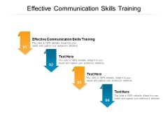 Effective Communication Skills Training Ppt PowerPoint Presentation Infographics Templates Cpb