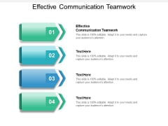 Effective Communication Teamwork Ppt PowerPoint Presentation Infographic Template Themes Cpb