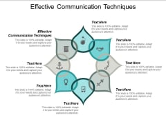 Effective Communication Techniques Ppt PowerPoint Presentation Portfolio Icon Cpb