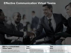 Effective Communication Virtual Teams Ppt PowerPoint Presentation Icon Microsoft Cpb