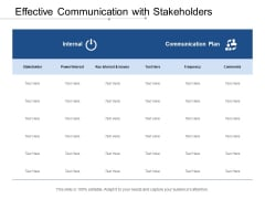 Effective Communication With Stakeholders Ppt PowerPoint Presentation File Graphics