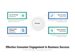 Effective Consumer Engagement In Business Success Ppt PowerPoint Presentation Outline Shapes PDF