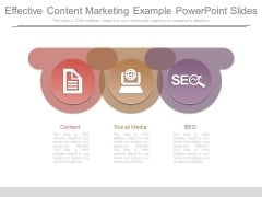 Effective Content Marketing Example Powerpoint Slides