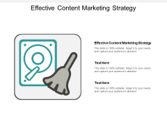 Effective Content Marketing Strategy Ppt PowerPoint Presentation Layouts Visuals Cpb