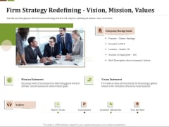 Effective Corporate Turnaround Management Firm Strategy Redefining Vision Mission Values Structure PDF