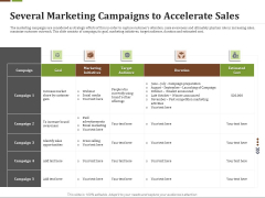 Effective Corporate Turnaround Management Several Marketing Campaigns To Accelerate Sales Demonstration PDF