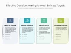 Effective Decisions Making To Meet Business Targets Ppt PowerPoint Presentation Inspiration Images PDF