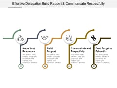 Effective Delegation Build Rapport And Communicate Respectfully Ppt PowerPoint Presentation File Layout Ideas