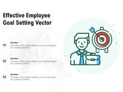 Effective Employee Goal Setting Vector Ppt PowerPoint Presentation File Slides