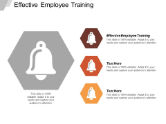Effective Employee Training Ppt Powerpoint Presentation Model Clipart Cpb
