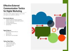 Effective External Communication Tactics For Digital Marketing Ppt PowerPoint Presentation Icon Background Image PDF