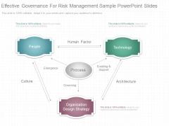 Effective Governance For Risk Management Sample Powerpoint Slides