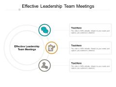 Effective Leadership Team Meetings Ppt PowerPoint Presentation File Background Designs Cpb