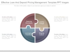 Effective Loan And Deposit Pricing Management Template Ppt Images