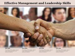 Effective Management And Leadership Skills Ppt PowerPoint Presentation Portfolio Samples