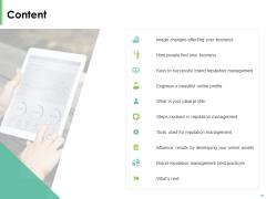 Effective Management Content Reputation Management Ppt File Deck PDF