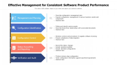 Effective Management For Consistent Software Product Performance Ppt PowerPoint Presentation File Example PDF