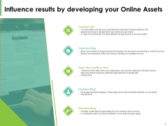 Effective Management Influence Results By Developing Your Online Assets Ppt Show PDF