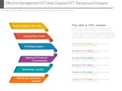 Effective Management Of Funds Diagram Ppt Background Designs