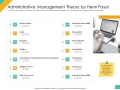 Effective Management Styles For Leaders Administrative Management Theory By Henri Fayol Themes PDF