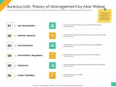 Effective Management Styles For Leaders Bureaucratic Theory Of Management By Max Weber Designs PDF