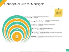 Effective Management Styles For Leaders Conceptual Skills For Managers Ideas PDF