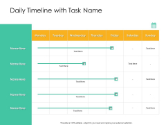 Effective Management Styles For Leaders Daily Timeline With Task Name Template PDF