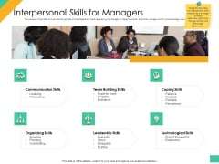 Effective Management Styles For Leaders Interpersonal Skills For Managers Icons PDF