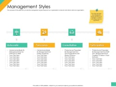 Effective Management Styles For Leaders Management Styles Summary PDF