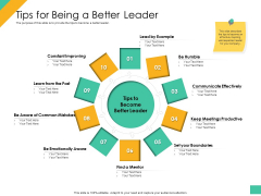 Effective Management Styles For Leaders Tips For Being A Better Leader Pictures PDF