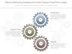 Effective Marketing Strategies And Ideas Diagram Powerpoint Images